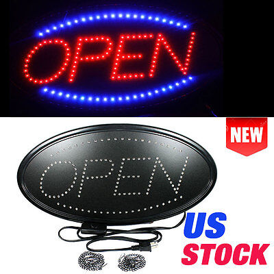 Animated Motion Running LED Business OPEN SIGN +On/Off Switch Bright Light Neon@