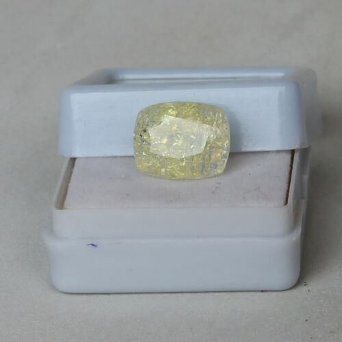 Natural Yellow Sapphire Ceylon 7.95 Ct Unheated Loose Certified  Gemstone