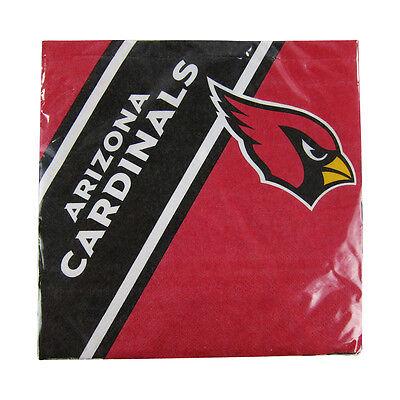 New NFL Arizona Cardinals 20pcs Dinners Napkins Partyware Party Supplies