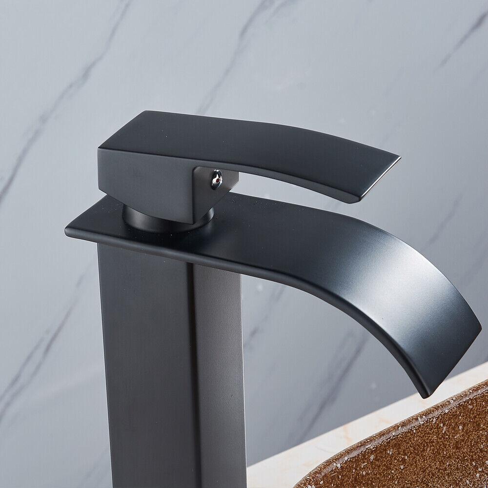 Bagno lavandino lavabo miscelatore rubinetto ottone nero antico cascata alto dhl ebay - Rubinetto bagno alto ...