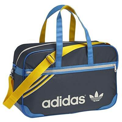 Adidas Originals F79528 Holdall Bag Overnight weekend sports Gym Blue/Yellow