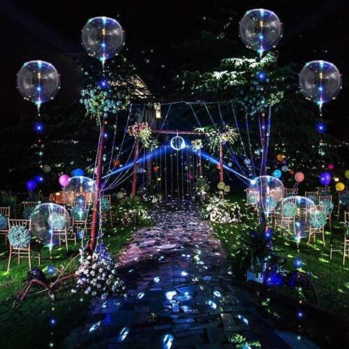 30x Leuchtende LED Luftballons Geburtstag Hochzeit Party Deko Club Licht Ballons