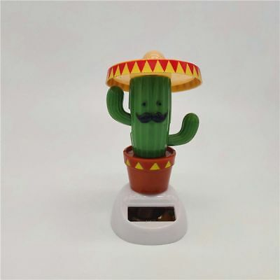 Cute Solar Powered Shaking Hands Cactus Home Decor Gadget Toy Hot New - Solar Powered Gadgets