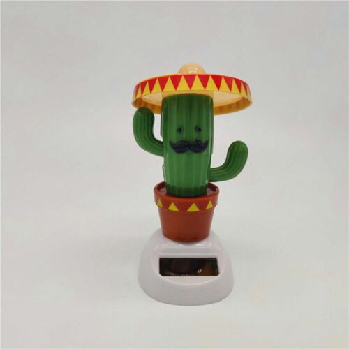 cute solar powered shaking hands cactus home