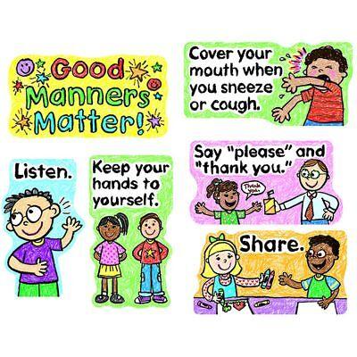 Good Manners Bulletin Board - Good Manners Matter Mini Bulletin Board Set Carson Dellosa CD-110109