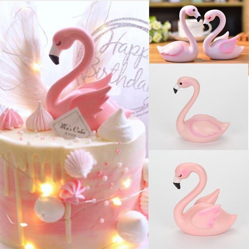 13th Anniversaire Flamant Rose-Precut Edible Cupcake Toppers Gâteau Décorations