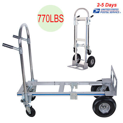Usa Portable Aluminum Folding Hand Truck Dolly Heavy-duty Luggage Trolley Cart