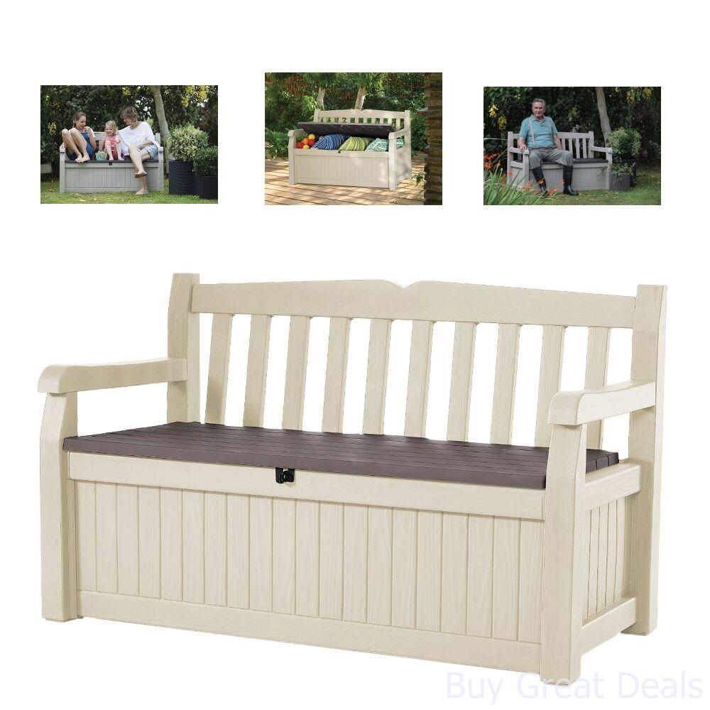 Wondrous Details About New 70 Gal Outdoor Patio Bench Seat Storage Deck Box Furniture Pool Yard Garden Machost Co Dining Chair Design Ideas Machostcouk