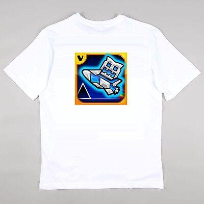 Geometry Dash Gaming Fans T Shirt Girls Boys Gaming 5   14 Years   New