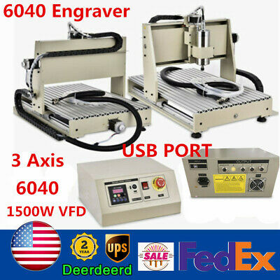 1500w Cnc 6040 Router Engraver Metal Wood Pcb Milling Engraving Machine 3 Axis
