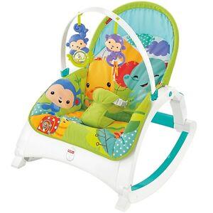 Fisher-Price Rainforest Friends Newborn to Toddler Portable Rocker