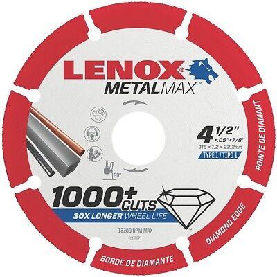 Lenox 1972921 4-12 X 78 Metal Max Diamond Saw Blade New