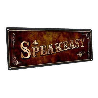 Speakeasy Metal Sign; Wall Decor for Home and Office (Speakeasy Decorations)