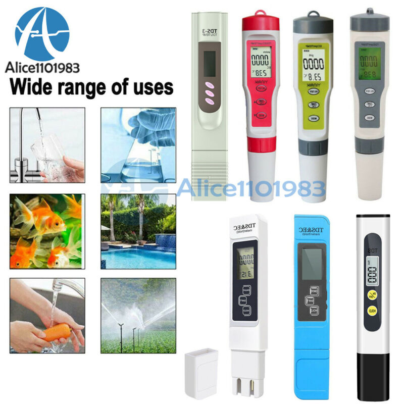 PH/EC/TDS/TEMP Digital Water Quality/temperature Detection Tester Purity Pen Kit