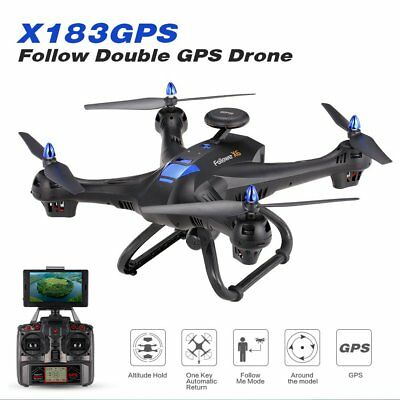 Drone 6-axes X183 With 2MP WiFi  HD Camera GPS Brushless Quadcopter BU