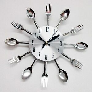 modern design silver cutlery kitchen utensil clock spoon fork knife bendable new. beautiful ideas. Home Design Ideas