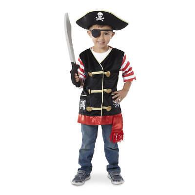 Piraten Kostüm Kinder Piratenhut Weste Schwert Seeräuber Verkleidung Fasching