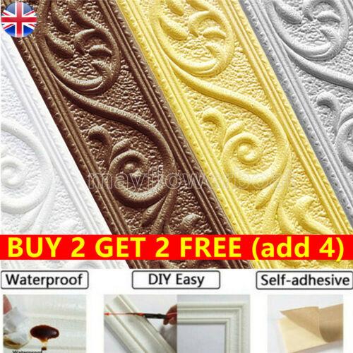Home Decoration - Wall Self-Adhesive 3D Sticker Skirting Wallpaper Border Home Decor Waterproof