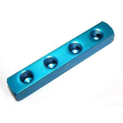(Aluminum Rectangle Pencil Manifold 4 Way Outlet 1/4