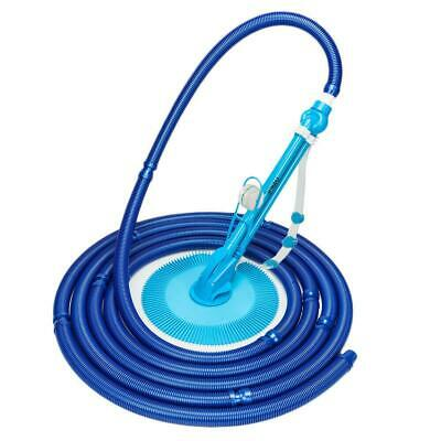 Auto Swimming Pool Cleaner Vacuum Inground Above Ground 10x Durable Hose Blue