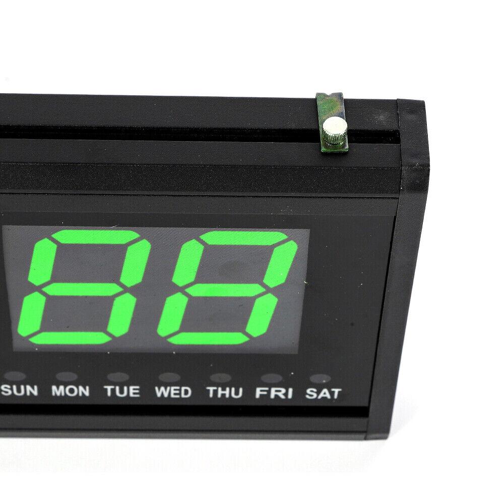 3 Zoll Digital LED Wanduhr 24Hr Uhr mit Datum Temperatur