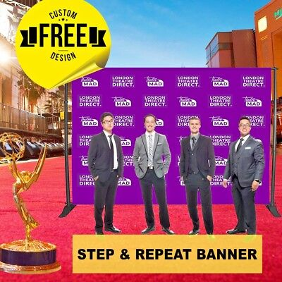 Step and Repeat 16 Oz Vinyl Banner 8' X 8' FT 6 GUEST photo booth backdrop stand - Photo Booth Backdrop Stand