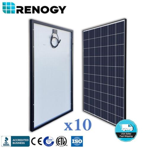 10pcs Renogy 270w Solar Panel On Grid Off Grid Pv Power 2700w 2500w 24v 48v Home
