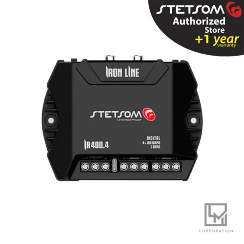 STETSOM IR400.4 2 ohms 400W Compact Amplifier 4 channel 3 Day Delivery USA