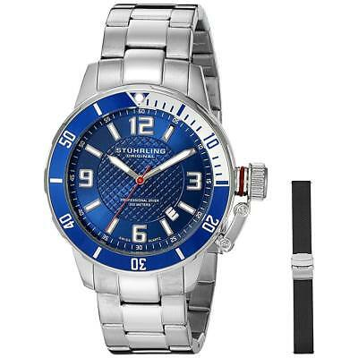 Stuhrling Original Men's 42mm Steel Bracelet Swiss Quartz Watch 676.02.SET