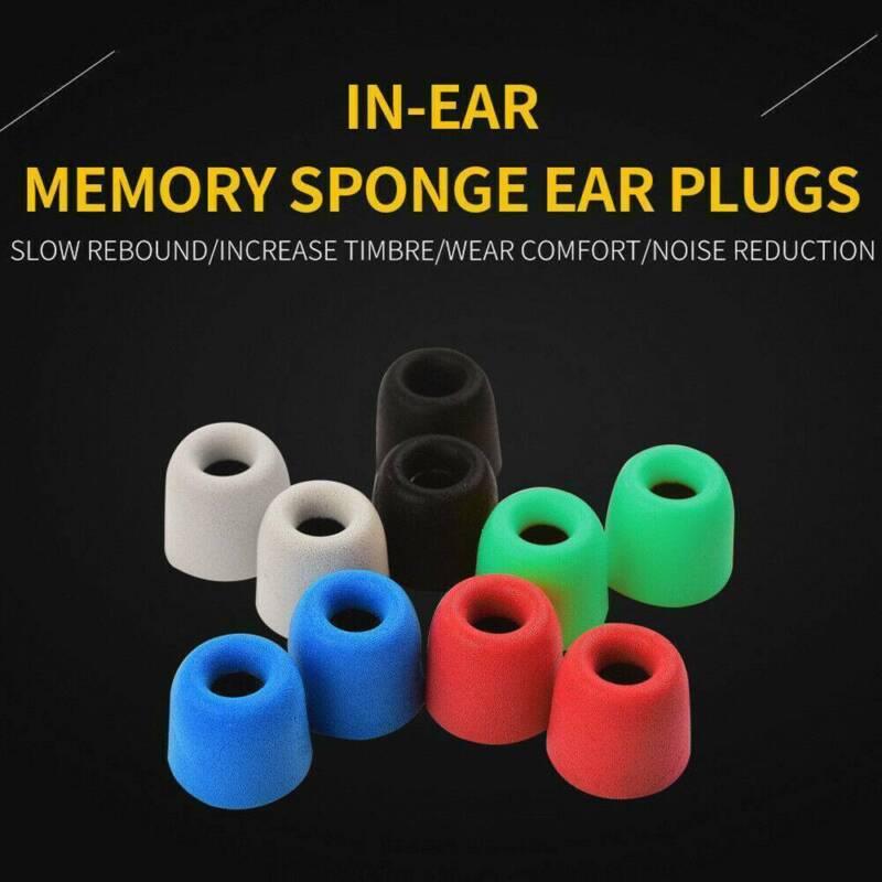 3 Pairs 4/4.5/5mm Memory Foam Ear Buds Tips Eartips In Ear F