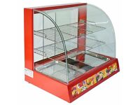 Hot Food Warmer Display Cabinet Counter Electric Pie Pasty Sausage Rolls and pizza 66cm