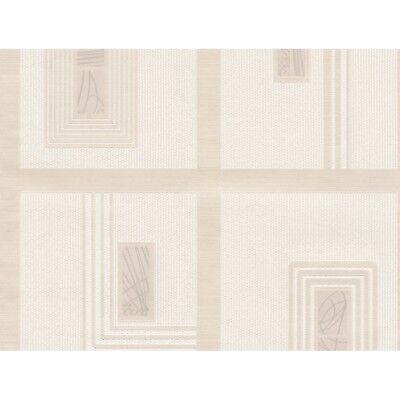 1901 Wallpaper - Moda Black Label Belgravia Gianni Cream Square Blocks Glitter Wallpaper (1901)