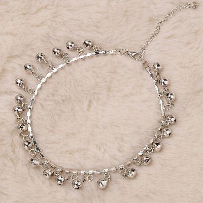- 1pcs Fashion Silver Tone Jingle Bell Anklet Ankle Bracelet Chain Gypsy Tribal