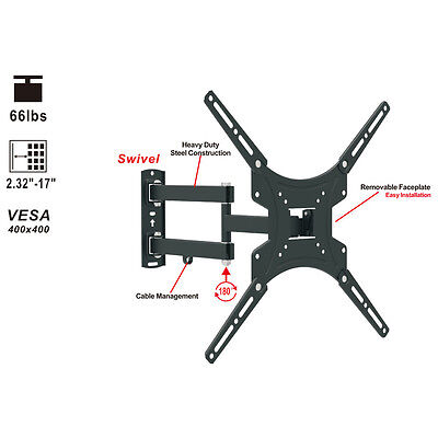 180° Full Motion TV Wall Mount Bracket for 13 32 40 42 47 50 Inch LCD Display ()