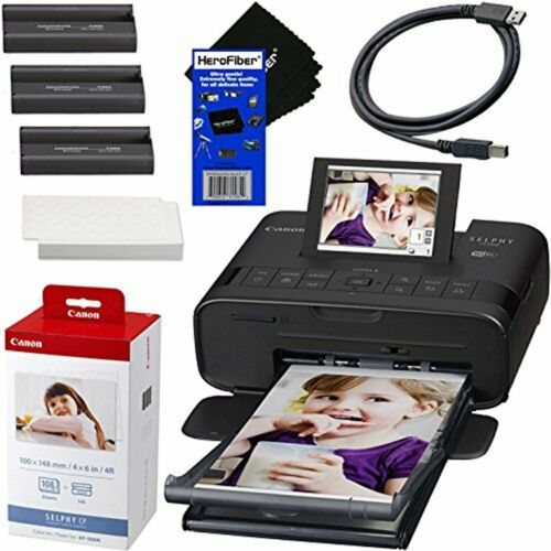 Canon Selphy CP1200 Wireless Photo Printer + Ink & Paper Set