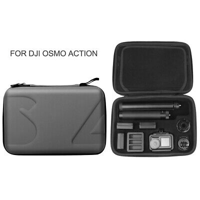 For DJI OSMO Action Camera Protection Case Anti Scratch Silver Grey Storage Bag