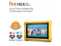 """Fire HD 8 Kids Edition Tablet, 8"""" Display, 32 GB, Yellow Kid-Proof Case"""
