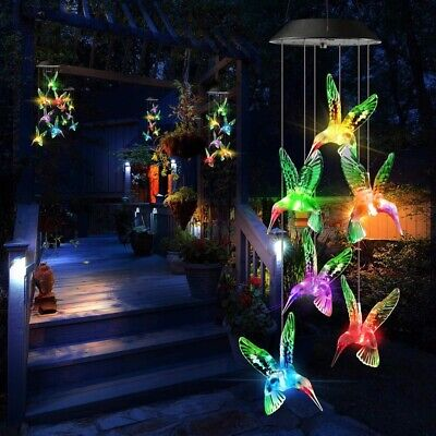 Solar Power LED Wind chime Butterfly Lights Color Changing Christmas IN/OUTdoor