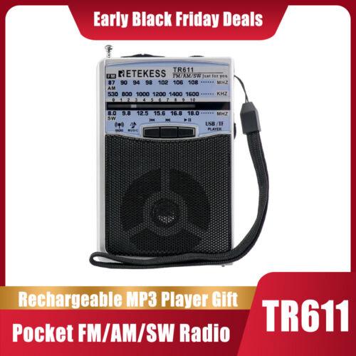Retekess TR611 Portable AM FM Radio Mini Transistor Shortwav