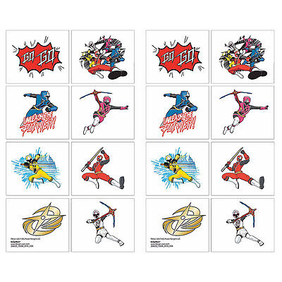 Power Temporary Tattoos (Power Rangers NINJA STEEL Temporary Tattoos TEACHERS Supply Birthday Party Favor )