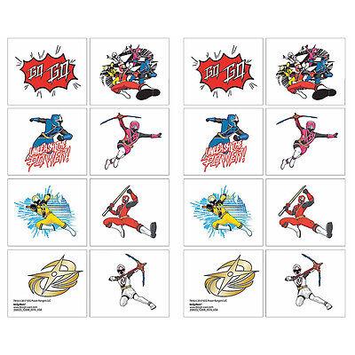 Power Rangers NINJA STEEL Temporary Tattoos TEACHERS Supply Birthday Party - Power Rangers Birthday Supplies