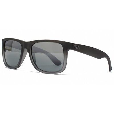 ab850fe1d9 Ray-Ban Justin Sunglasses Transparent Grey Frame Silver Lens 852 88 54 16  145