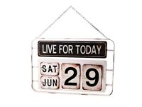 Sass & Belle Vintage Iron Live-for-Today-Daily-Wall-Calendar £10.00 Kennington SE11 5NG London