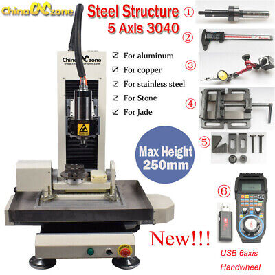 Steel Structure Cnc 3040 5axis 2.2kw Metal Router Engraving Milling Diy Machine