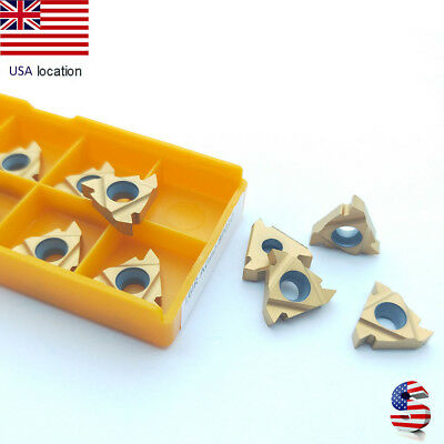 Us- 10pcs 16ir Ag60 Carbide Inserts Lathe Threading Boring Bar Holder For Steel