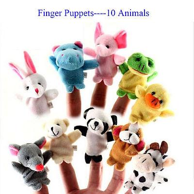 - 2/10Pcs Finger Puppet Cloth Plush Doll Baby Educational Hand Cartoon Toy Cute SU