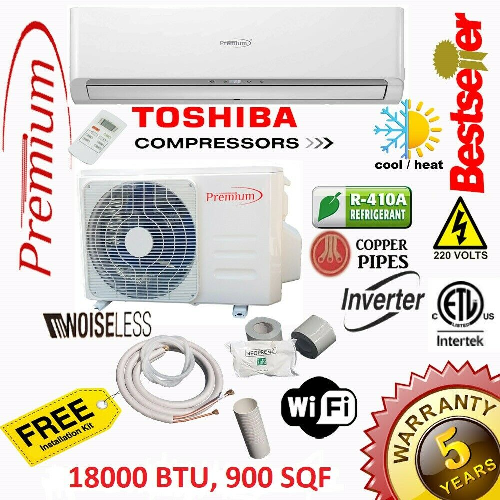 18000 BTU Air Conditioner Mini Split 19 SEER INVERTER AC Duc