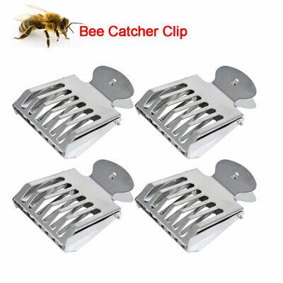 4pcs Metal Queen Bee Catcher Clip Cage Catching Beekeeping Equipment Steel New