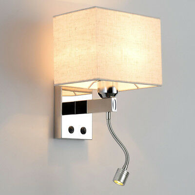 Modern LED Reading Wall Lamp Wall Light Bedside Bedroom Hotel Wall Sconce (Hotel Reading)