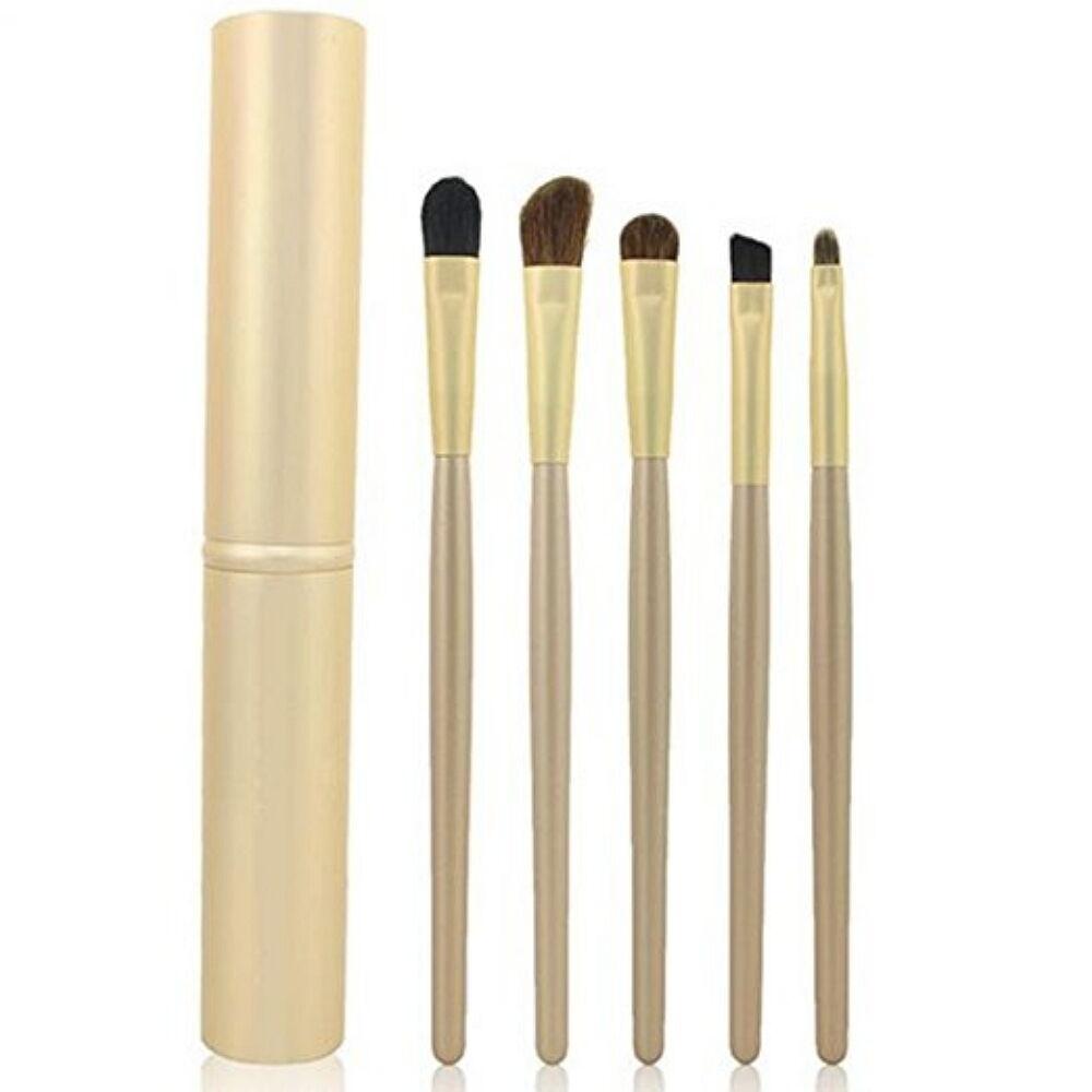 5 Pcs Makeup BRUSHES Kit Set Powder Foundation Eyeshadow Eyeliner Lip Brush Brushes